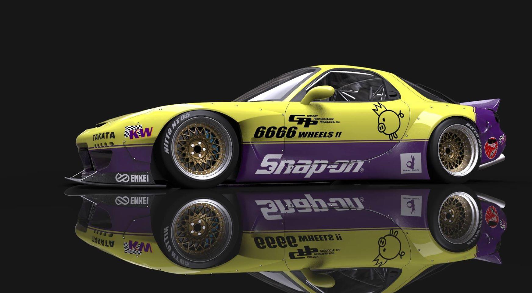 Rocket Bunny Version 2 FD3S Mazda RX7 | KW Automotive Blog