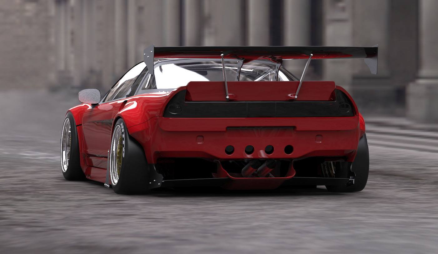 Rocket Bunny takes on the Honda NSX | www.kw-suspensions.gr