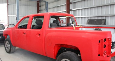 Getting ready for graphics on the Belltech Crew Cab project