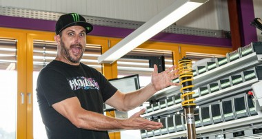 ST suspensions brand ambassador Ken Block visited our KW Headquarters in Germany