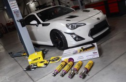 JDM seduction: Toyota GT86 meets KW V3 and KW HLS!