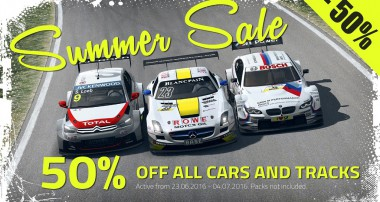 Summer, Sunshine, Pole Position: Now you save money with RaceRoom!