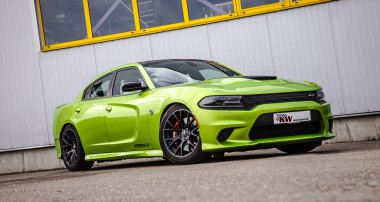 Geigers Dodge Charger SRT Hellcat relies on KW: 3-way Coilover kit from now on available