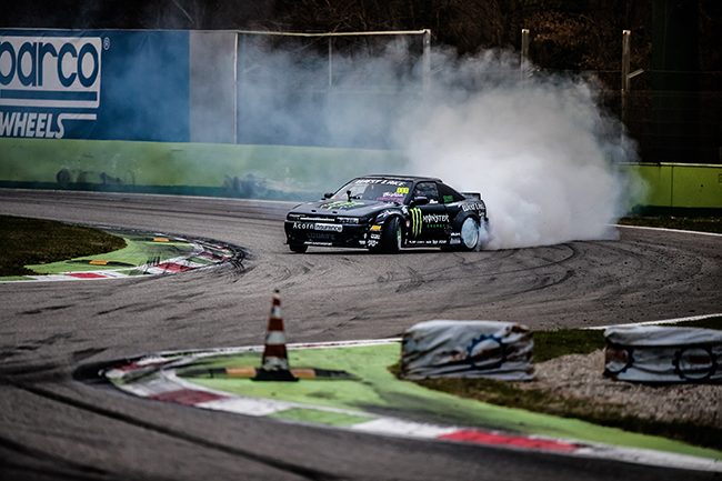 Baggsy at Monza Rally Show 2016.