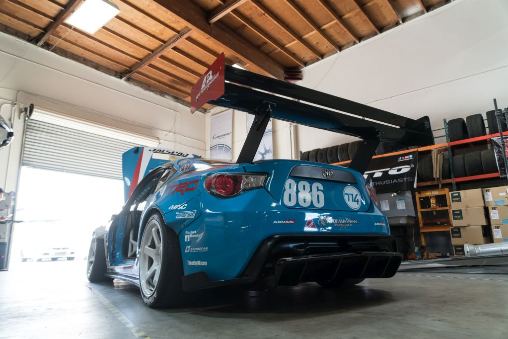 Pikes Peak Toyota GT86 with KW Competition 3-way from Mackin Industries
