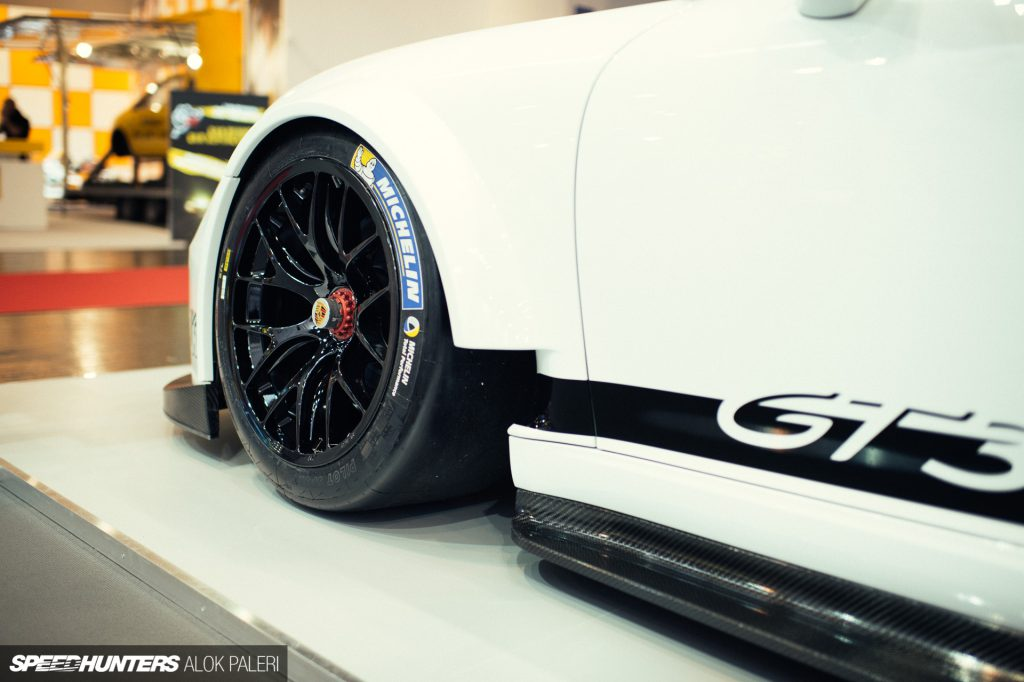 Manthey GT3 Cup MR with KW Competition suspension at Essen Motor Show Germany