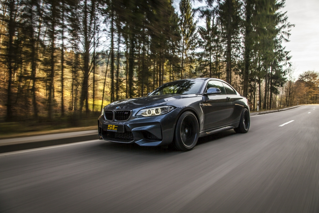 ST developed for the BMW M2 wheel spacers and springs