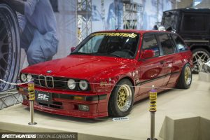 """ST sportsuspension equipped """"Rocket Bunny"""" BMW E30."""