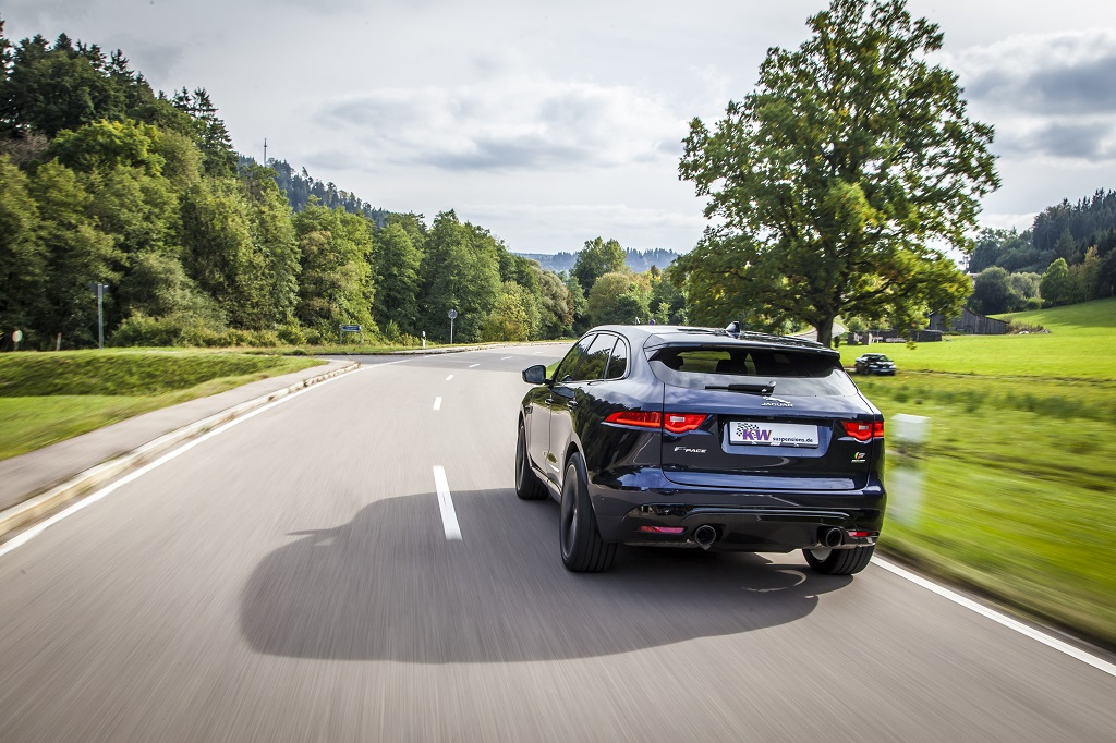 KW develops individual lowering for Jaguar F-Pace