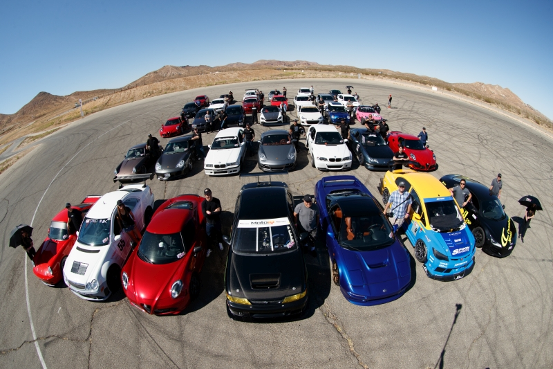 KW Shakedown: Larry Chen went to work capturing a group shot of the remaining cars. Quite a few vehicles were missing as they decided to try and get a jump on the long drive home to Northern California.