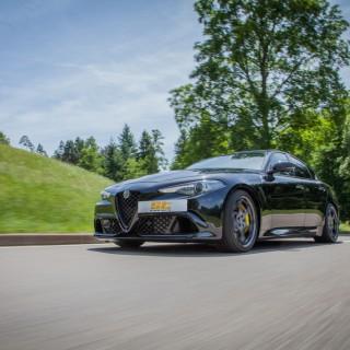 ST suspensions lowers the Alfa Romeo Giulia Quadrifoglio!