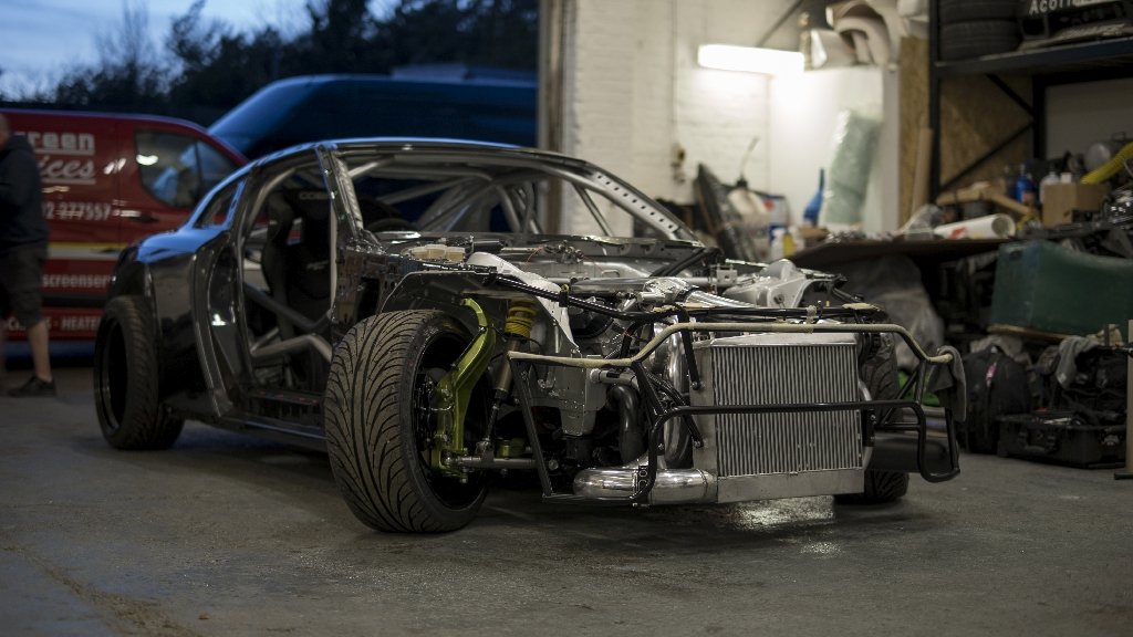This was not just a simple task of getting a car 'Drift' ready, this was a complete ground up build, reworking every part of the original car from top to bottom.