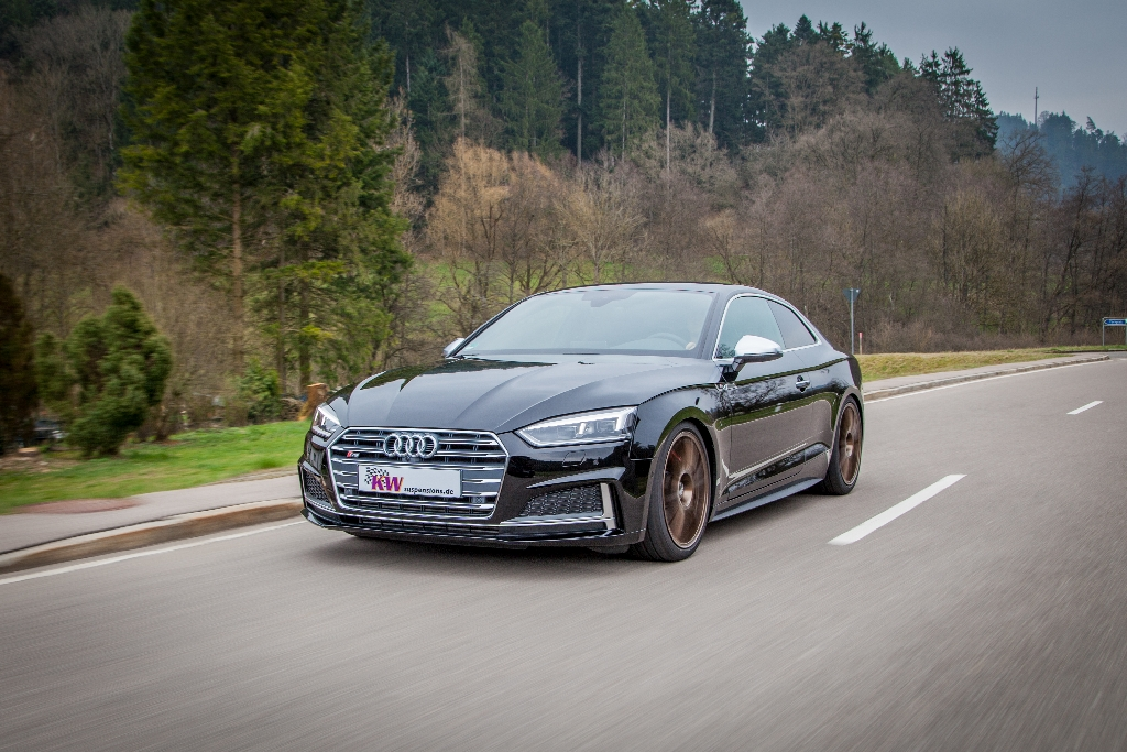Extensive KW suspension program for Audi S5 (B9) Coupé:
