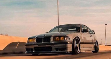The freshness of the 90ies! BMW E36 meets KW V1 and Audi Nardo Grey …