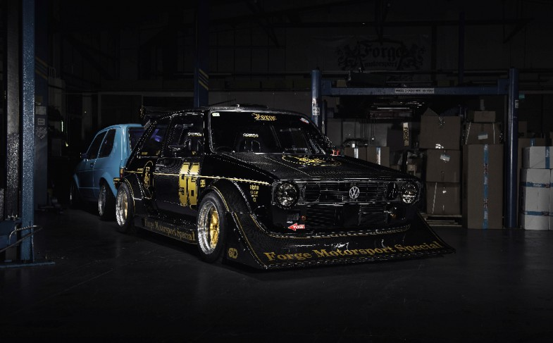 """Black, wide and powerful: the """"Über-Golf Mk 1"""" from Forge Motorsport"""
