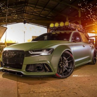 """Hardcore Military"" – a RS6 with KW V4 in Army Style"