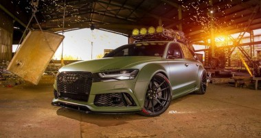 """""""Hardcore Military"""" – a RS6 with KW V4 in Army Style"""