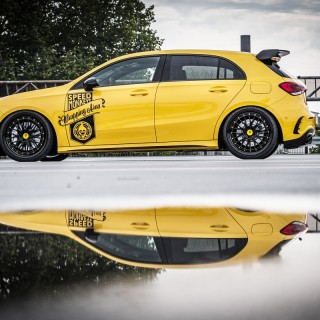 Astounding hot Hatchback: Mercedes-AMG A35 with KW Variant 3