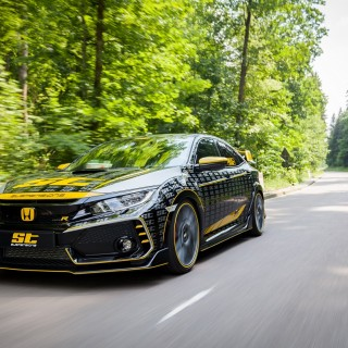 The ST XTA coilover makes the Honda Civic Type R (FC) an uncompromising cornering acrobat