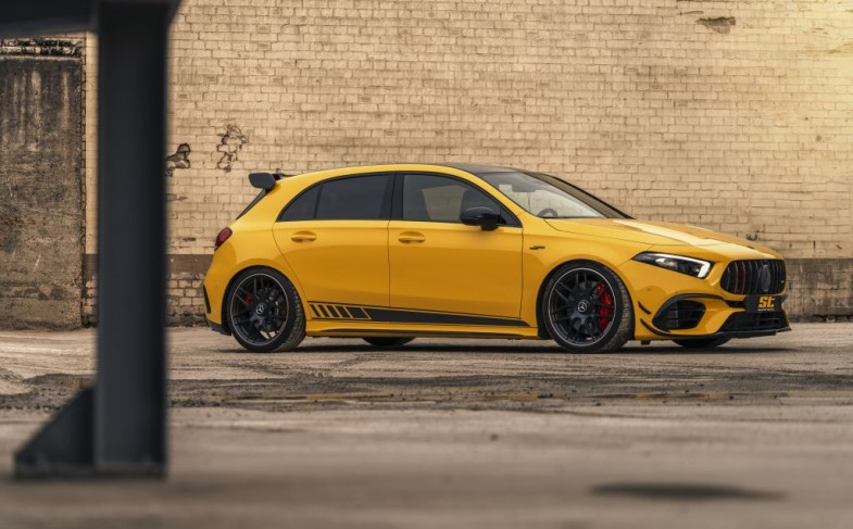 Developed for Mercedes-AMG: the new ST XTA plus 3 coilover with top mounts