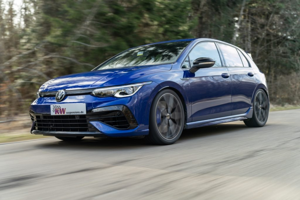 Overview of all KW suspension kits for the current VW Golf 8 R –you will certainly find the perfect KW coilover